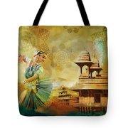 Kathak Dancer Tote Bag by Catf