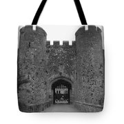Keys To The Castle - Black And White Tote Bag