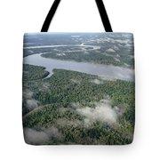 Kikori River In The Rainforest Kikori Tote Bag