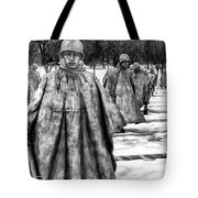Korean War Memorial Washington Dc Tote Bag