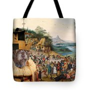 Korthals Pointing Griffon Art Canvas Print Tote Bag