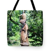 Lady At The Fountain Tote Bag
