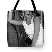 Lady In White Bw Tote Bag