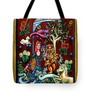 Lady Lion And Unicorn Tote Bag
