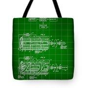 Laser Patent 1958 - Green Tote Bag