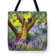 Lavender And Olive Tree Tote Bag