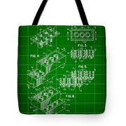 Lego Patent 1958 - Green Tote Bag
