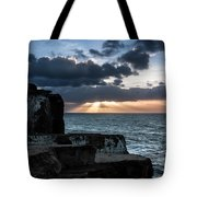 Light Behind The Darkness Tote Bag