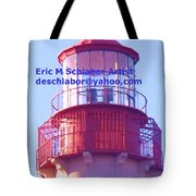 Lighthouse At Cape May Tote Bag
