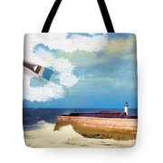 Lighthouse At Whitehaven Tote Bag