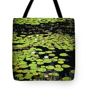 Lily Pads On Dark Water Tote Bag