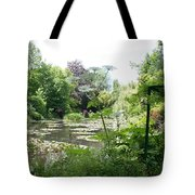 Lily Pond In Monets Garden Tote Bag