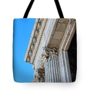Lincoln County Courthouse Columns Looking Up 02 Tote Bag