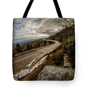 Linn Cove Viaduct During Winter Near Blowing Rock Nc Tote Bag