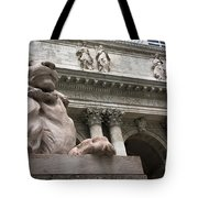 Lion New York Public Library Tote Bag