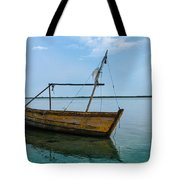 Lonely Boat Tote Bag by Jean Noren