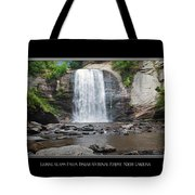 Looking Glass Falls North Carolina Tote Bag