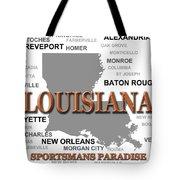 Louisiana State Pride Map Silhouette  Tote Bag