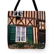 Low Angle View Of Houses Tote Bag