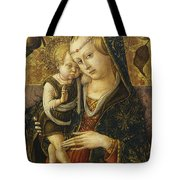 Madonna And Child Tote Bag by Carlo Crivelli