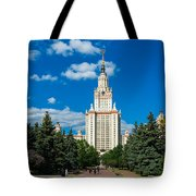 Main Building Of Moscow State University On Sparrow Hills Tote Bag