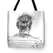 Man Head Tote Bag