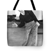 Man Posing With Sports Gear Tote Bag