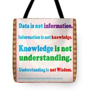Management Wisdom Words Source Unknown Compliation By  Navinjoshi  Rights Managed Images For Downloa Tote Bag