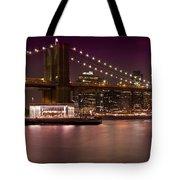 Manhattan By Night Tote Bag
