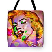 Marilyn Monroe Tote Bag by Eleni Mac Synodinos