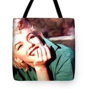 Marilyn Monroe Large Size Portrait Tote Bag