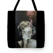 Marilyn's Crimson Haze Tote Bag