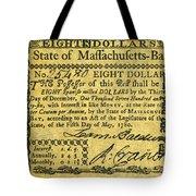 Massachusetts Banknote Tote Bag