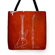 Mccarty Gibson Electrical Guitar Patent Drawing From 1958 - Red Tote Bag