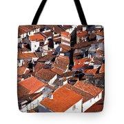 Medieval Town Rooftops Tote Bag