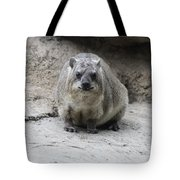 Rock Hyrax Headshot Tote Bag