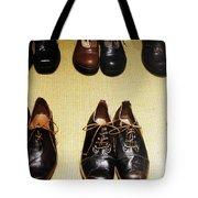 Mens Fine Italian Leather Shoes Tote Bag
