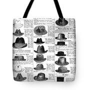 Men's Hats, 1895 Tote Bag