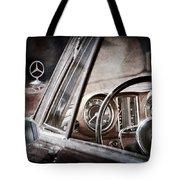 Mercedes-benz 250 Se Steering Wheel Emblem Tote Bag
