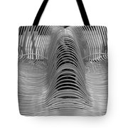 Metal Strips In Black And White Tote Bag