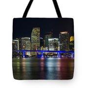 Miami Downtown Skyline Tote Bag