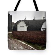 Michigan Barn With Grain Bins Rainy Day Usa Tote Bag