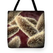 Microscopic View Of Paramecium Tote Bag by Stocktrek Images
