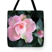 Miniature Pink Roses Tote Bag