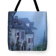 Misty Dawn In Saint Cirq Lapopie Tote Bag