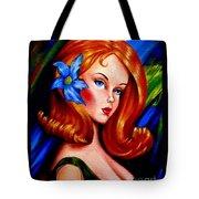 Mod Barbie Redhead Tote Bag