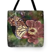 Monarch- Butterfly Mixed Media Photo Composite Tote Bag