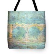 Monet's Waterloo Bridge In London At Sunset Tote Bag
