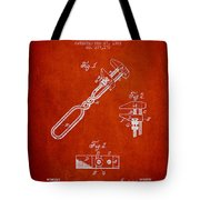 Monkey Wrench Patent Drawing From 1883 Tote Bag