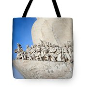 Monument To The Discoveries In Lisbon Tote Bag